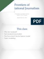 Computational Journalism 2016 Week 2