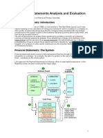 Financial Statements Analysis and Evaluation