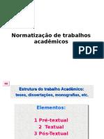Normatização de Trabalhos Acadêmicos