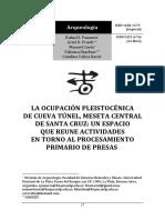LA OCUPACIÓN PLEISTOCÉNICA DE CUEVA TÚNEL, MESETA CENTRAL DE SANTA CRUZ