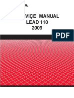 Honda Lead NHX110 2009 Service Manual