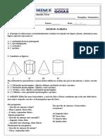 Avaliação de Matemática P1-2 6 Ano 3B