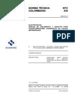 NTC836 - NIVELES DE AISLAMIENTO Y ENSAYOS PARA TRANSFORMADORES EN LIQUIDOS REFRIGERANTES