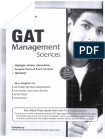 GAT Subject (Management Sciences)