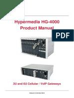 Manual Hypermedia HG4000