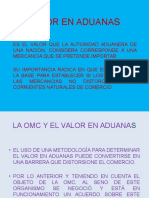 Valor en Aduanas (2)