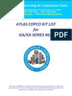 Atlas Copco Ga+Xa Technical Kit List 2009