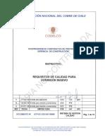 12 Vcp-gc-sgc-idt-00009 Requisitos de Calidad Para Hormigón Masivo Rev-0