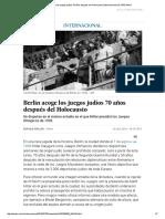 Berlín Acoge Los Juegos Judíos 70 Años Después Del Holocausto _ Internacional _ EL PAÍS Móvil