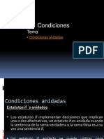 2. Condiciones anidadas
