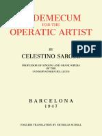 Excerpt from Venimecum del artista lírico, by Celestino Sarobe