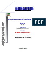Formato Reporte Bimestral de Servicio Social