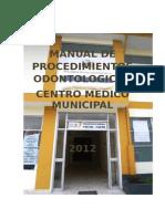 Manual de Procedimientos Odontológicos c.m.m