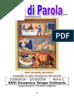 Sete di Parola - XXVI settimana C 2016.doc