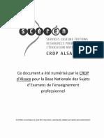 2010 CAP Patissier EP1 Corrige