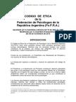 Codigo de Etica Nacional 2013