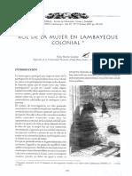 Roll de La Mujer en Lambayeque Colonial