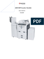 KM-6030 MFP Security Checklist