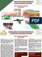 Folleto Informativo Micromine Mayo2016