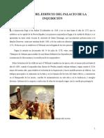 Historia Del Edificio Del Palacio de La Inquisición