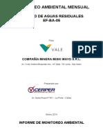Informe de Monitoreo Calidad de Agua Residual - Ef-ba-05 Noviembre