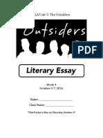 outsiders week 4 packet