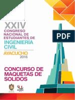 Bases Generales Del Concurso de Maquetas de Solido Coneic 2016