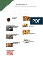 Función de Vitamina B1