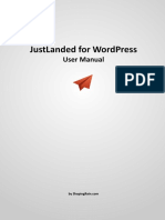 JustLanded for WordPress Manual