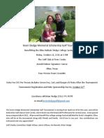 Kevin Sledge Memorial Scholarship Golf Tournament 2016