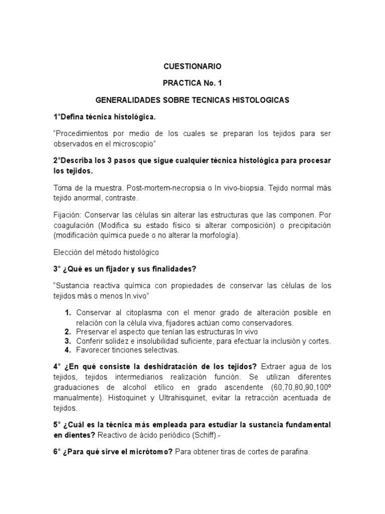 Histologia Cuestionario