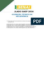 SIMULADO SAEP 2016