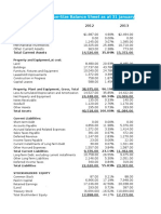 Copy of Home Depot and Lowes Balance Sheets Vertical Analysis