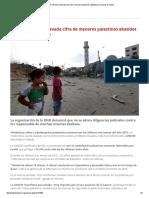 UNICEF Denuncia Elevada Cifra de Menores Palestinos Abatidos Por Fuerzas Israelíes