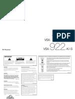 PioneerVSX 922 Manual