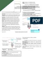 Notes on Electrolysis