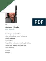 Biografi Andrea Hirata