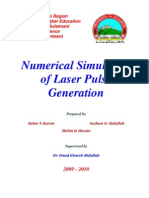 Numirical Simulation of Laser Pulse Generation