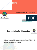 01 Introduction Overview Design Pattern