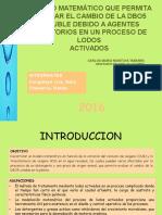 Modelo Matemático Que Permita Evaluar El Cambio De DBO5