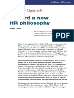 Toward a New HR Philosophy