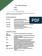 Círculo de Estudios de Derecho Internacional - CV Expositor