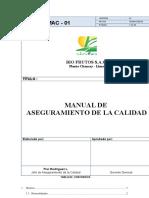Manual Calidad - Bio Frutos