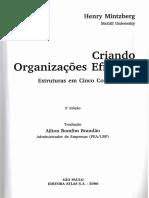 Henry Mintzberg - Criando Organizações Eficazes 2ª Edição 2006-Capítulos 7 - 8 - 9