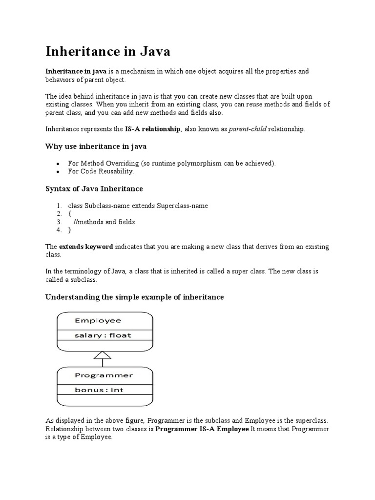 Inheritance,Polymorphism,Interface,Package in Java | Inheritance