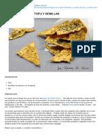 Chips o Snacks de Tofu y Semillas