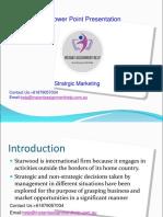 Sample PPT on Strategic Marketing