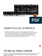 La Educación Vocal y El Canto