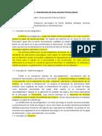 Concepto y Definición de Evaluación Psicológica
