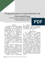 Propuesta para el mejoramiento de AdventistForge